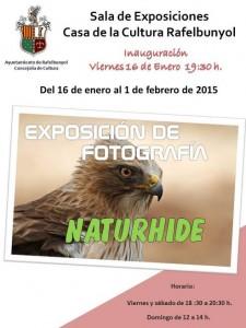 Cartel Exposición Naturhide Rafelbuñol (Castellano)