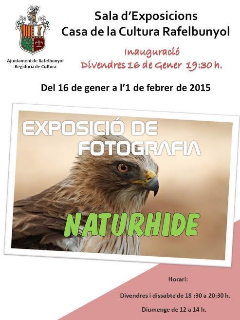 Cartel Exposición Naturhide Rafelbuñol (valenciano)